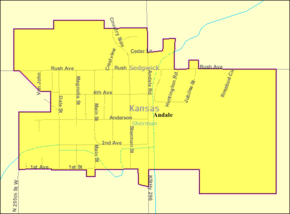 Detailed map of Andale, Kansas.png