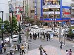 Diagonal crosswalk in front of Okayama CRED