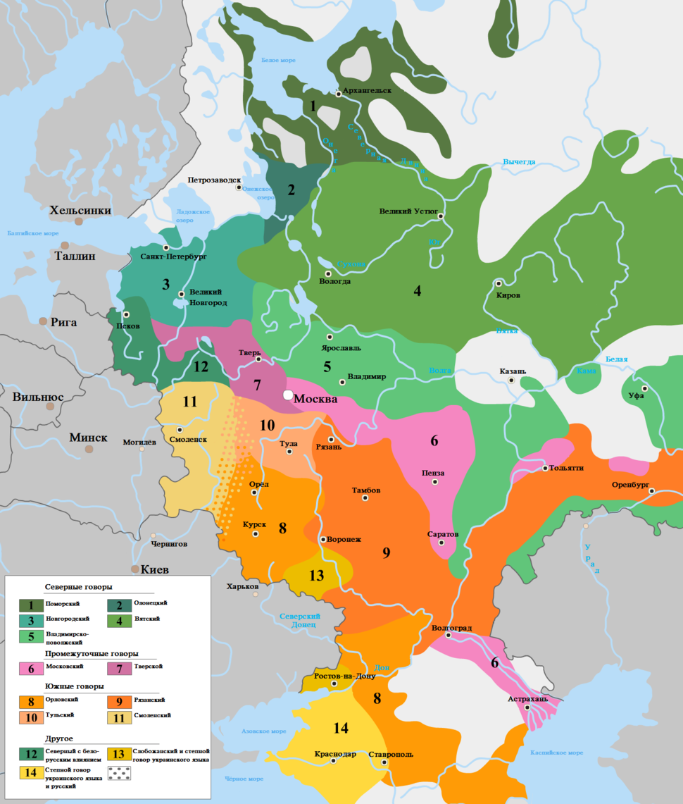 Dialects of Russian language-ru