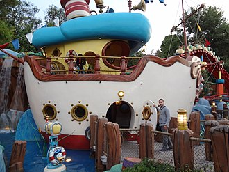 Donald Duck - Donald's house boat at Mickey's Toontown, Disneyland