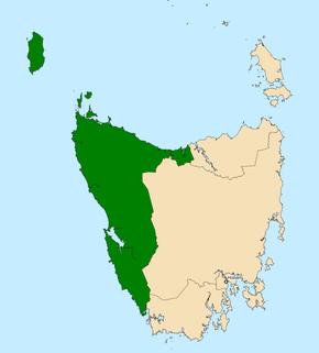 Division of Braddon Australian federal electoral division in western Tasmania