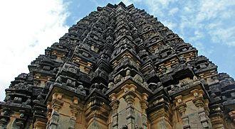 Doddabasappa Temple - Twenty-four pointed stellate plan of vimana of Dodda Basappa Temple in Dambal, 12th century CE