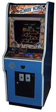 "A Donkey Kong ""upright"" arcade cabinet"