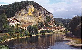 View of La Roque-Gageac and the Dordogne River