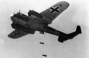 Kampfgeschwader 76 - Dornier Do 17s of KG 76 dropping bombs