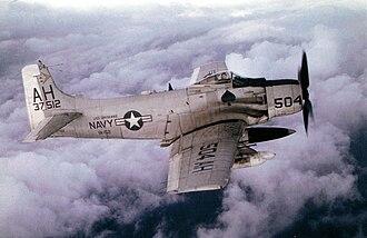 Rescue Dawn - Dengler flew an A-1 Skyraider aircraft.