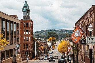 Marquette, Michigan - Downtown Marquette along Front Street