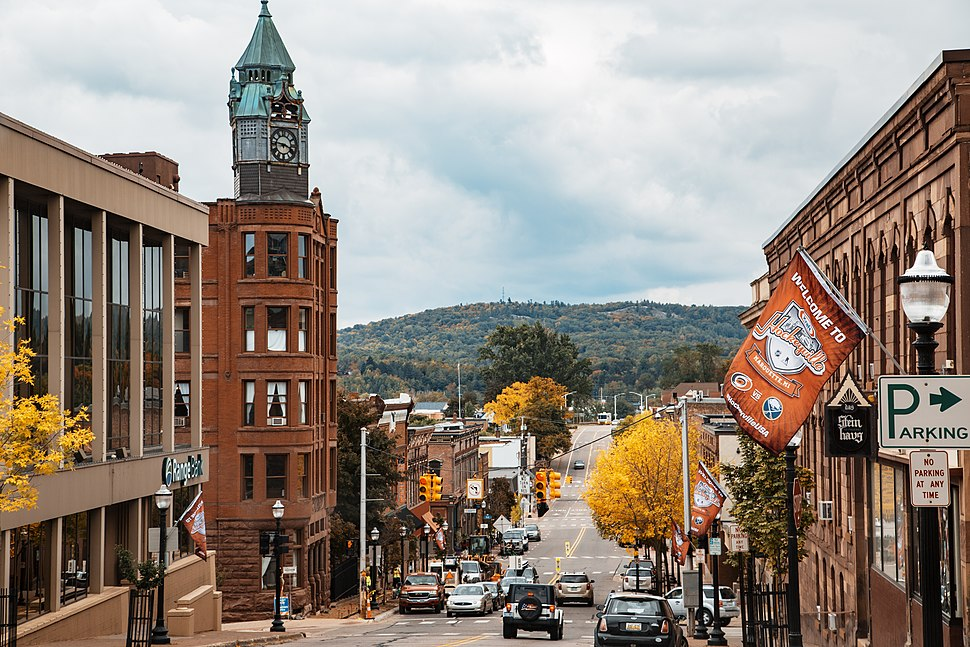 Downtown Marquette along Front Street
