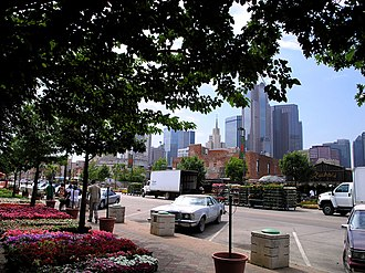 Farmers Market District, Dallas - The downtown skyline from the market
