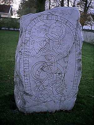 Swedes (Germanic tribe) - The Runestone DR 344 is one of the earliest surviving instances of the name Svíþjóð, in Scandinavia (only Runestone DR 216, Beowulf and probably also the Getica are earlier).