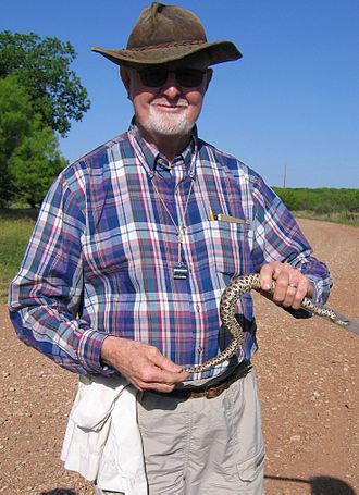 James R. Dixon - Dr. James Dixon with a rattlesnake in April, 2005.