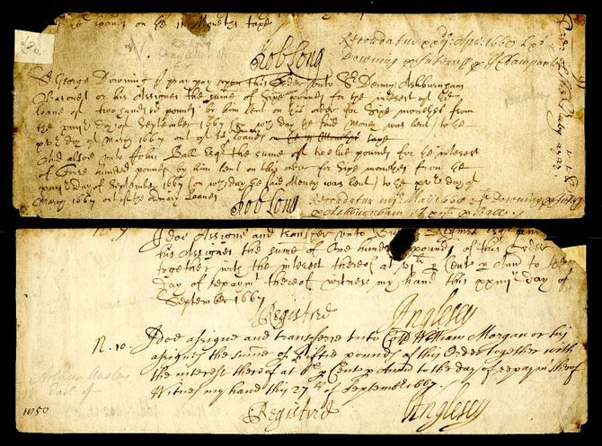English: Draft letter of 1669 from Sir Robert ...