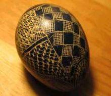 Drapanka, œuf de Pâques de Pologne