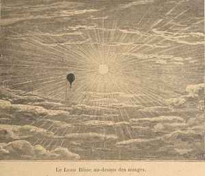 Balloon mail - The Louis Blanc, pilloted by Eugène Farcot on 12th October 1870, was the 10th balloon mail of the 66 sent during the siege.