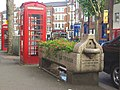 Drinking fountain and cattle trough, Muswell Hill (geograph 2041730).jpg