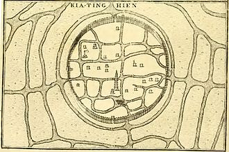 Jiading District - An early 18th-century French map of Kia-ting Hien (Jiading proper)