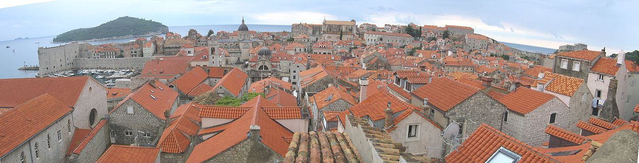 Panorama view on the Old Town of Dubrovnik
