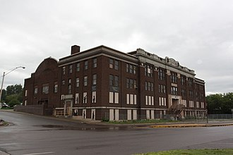 Duluth Armory - Armory in 2010; the Drill Hall (left) and Head House (center and right)
