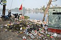 Dumped Garbage At Southern Edge - Santragachi Jheel - Howrah 2017-12-25 5641.JPG