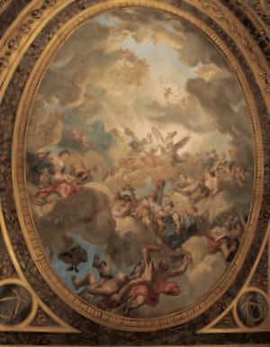 Louis Jean-Jacques Durameau - Louis Jean-Jacques Durameau, Plafond painting in the Royal Opera of Versailles, ca. 1770
