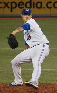 Dustin McGowan on July 5, 2013.jpg