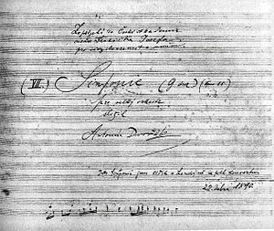 Symphony No. 8 (Dvořák) - Title page of the autograph score