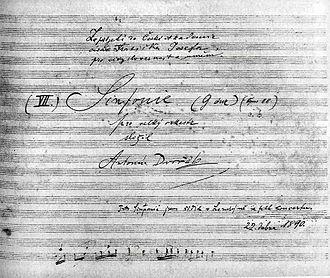 Symphony No. 8 (Dvořák) - Title page of the autograph score