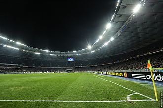 Olimpiyskiy National Sports Complex - View of the stadium during the match between Dynamo Kyiv and Everton, 2015