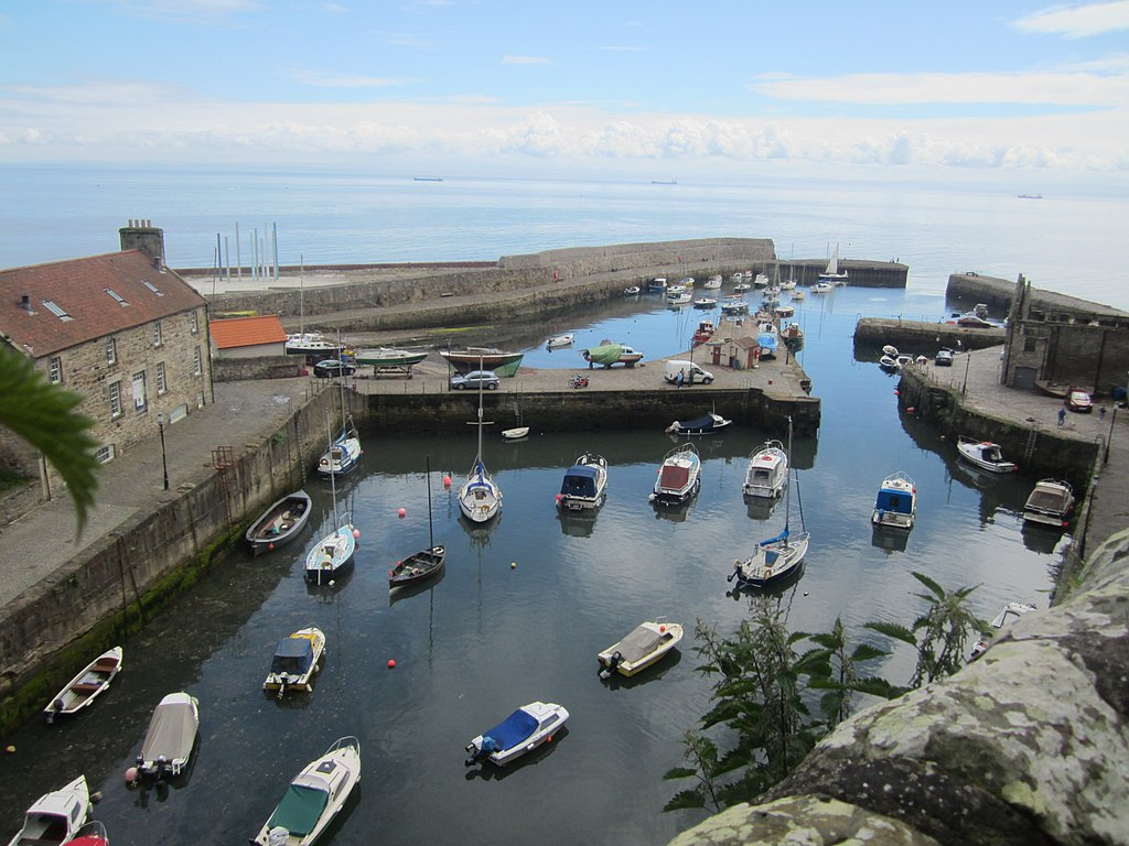 Dysart Harbour from above
