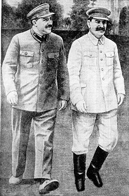 Stalin with Kaganovich during the Holodomor