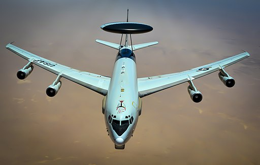 E-3 Sentry prepares to receive fuel during a flight in support of Operation Inherent Resolve May 27, 2017