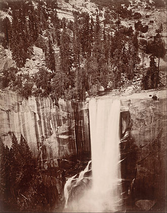 Eadweard Muybridge - Photo of Vernal Falls at Yosemite by Eadweard Muybridge, 1872
