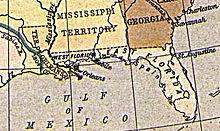 Carte de la Floride en 1810.