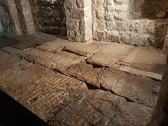 Gabbatha - Roman pavement once thought to be the site of Jesus' trial with Pontius Pilate