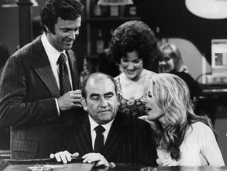 Sheree North - Ed Asner as Lou Grant and Sheree North as Charlene Maguire, his new girlfriend, in a fifth-season episode of The Mary Tyler Moore Show.