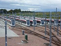 Edinburgh trams at Gogar (geograph 3176699).jpg