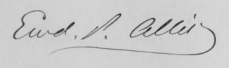 Edward P. Allis - Image: Edward P Allis Signature
