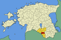 Tõlliste Parish within Valga County.