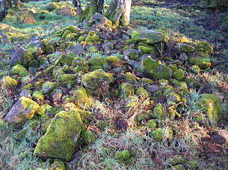 Prehistoric Sweden - A typical Clearance cairn from Eglinton Country Park in Scotland