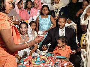 Types of marriages - Nubian wedding with some international modern touches, near Aswan, Egypt
