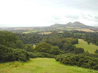 Eildon Hill - The three peaks of Eildon Hill seen from Scott's View