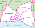 Electoral wards in and surrounding the town of Milford Haven, Pembrokshire.png