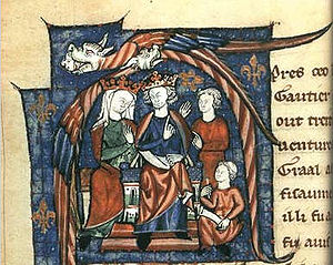 Henry II of England - 12th-century depiction of Henry and Eleanor holding court