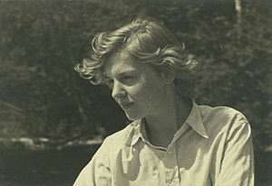 Elizabeth Smart (Canadian author) - Elizabeth Smart at her family's summer cottage near Kingsmere, c. 1930