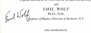 Emil Wolf Czech-born American physicist