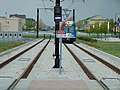 End of the line (Red Line) at Daybreak Parkway station, Apr 16.jpg