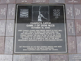 2006 National League Championship Series - Endy Chávez plaque