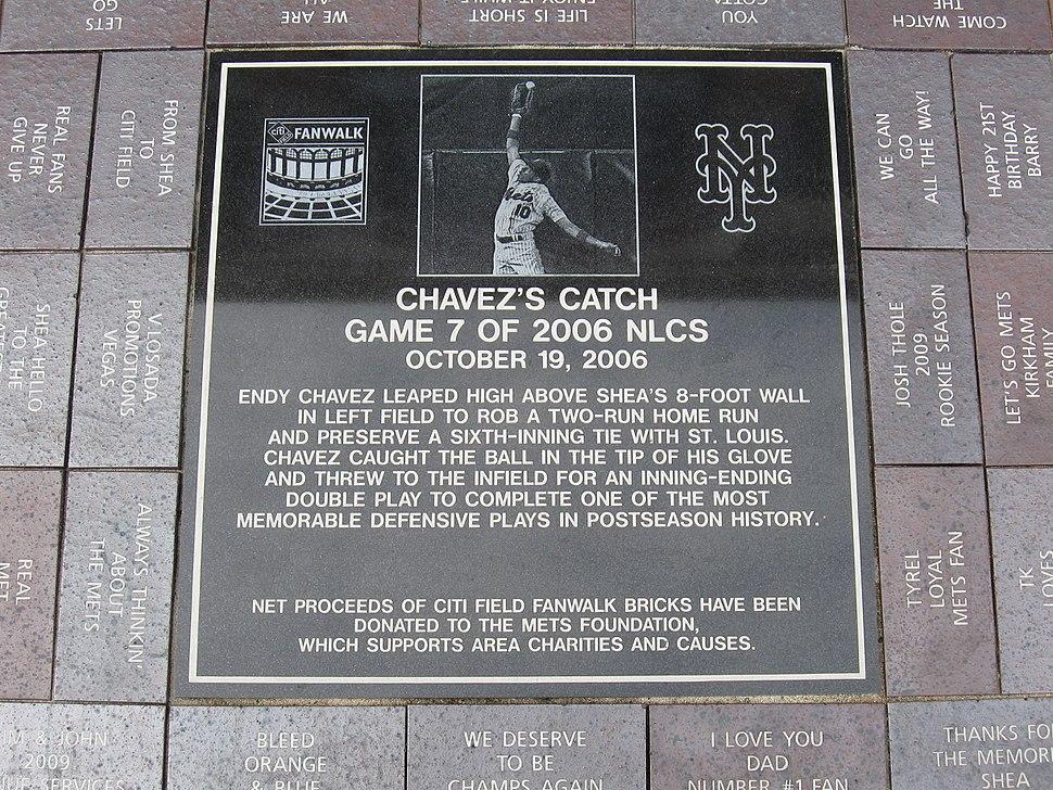 Endy Chavez plaque