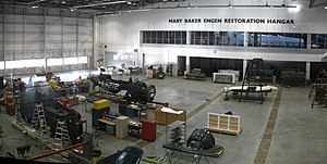 Steven F. Udvar-Hazy Center - The Mary Baker Engen Restoration Hangar in January 2013. The Space Shuttle ''Discovery'' is in the background.