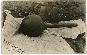 British war crimes - A World War I-era British gas bomb